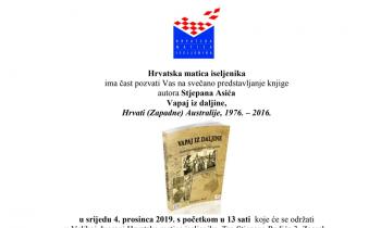 """Vapaj iz daljine"" iz pera Stjepana Asića"